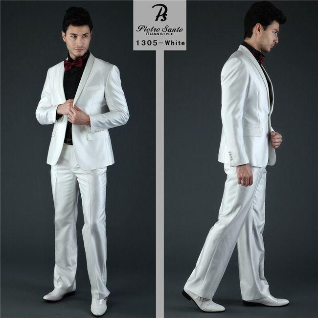Traje blanco para el novio for Trajes de novio blanco para boda