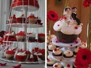 Cupcakes con cintas
