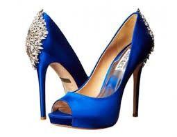 Zapatos azules para vestido de novia