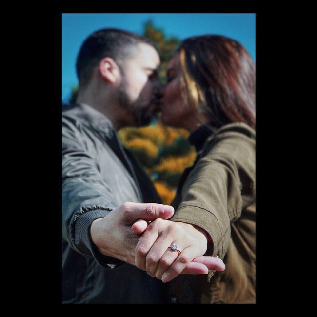 ¿Hubo anillo el día que se comprometieron? 1