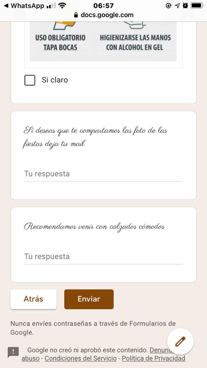 Google form para invitación? - 4