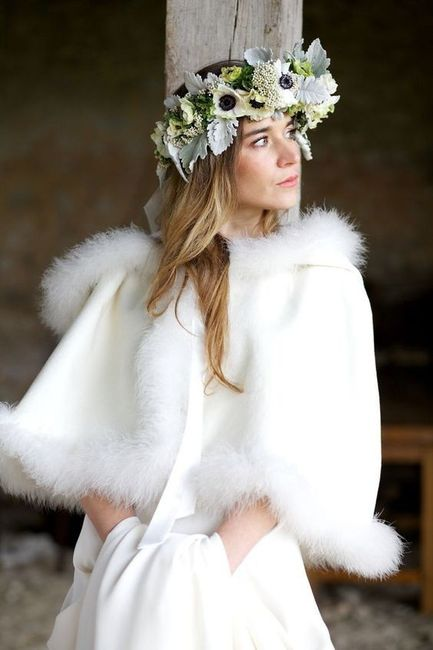 ¿Abrigo de novia elegante o informal? 1