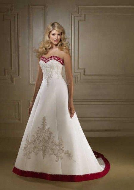 Vestidos de boda blanco con rojo