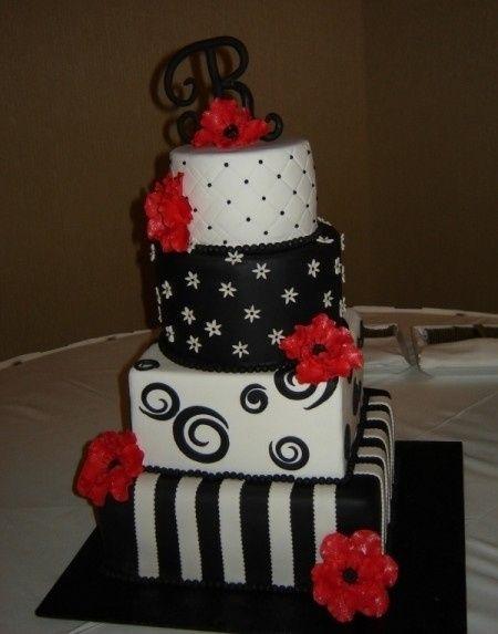 Torta rojo blanco negro fotos - Decoracion blanco negro rojo ...