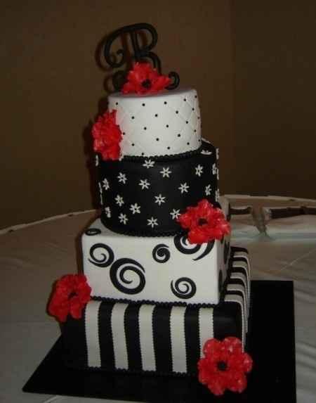 torta rojo-blanco-negro