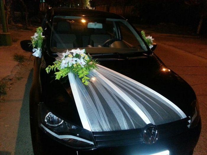 El auto de los novios - Decoracion coche novia ...