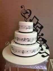 notas musicales de la torta
