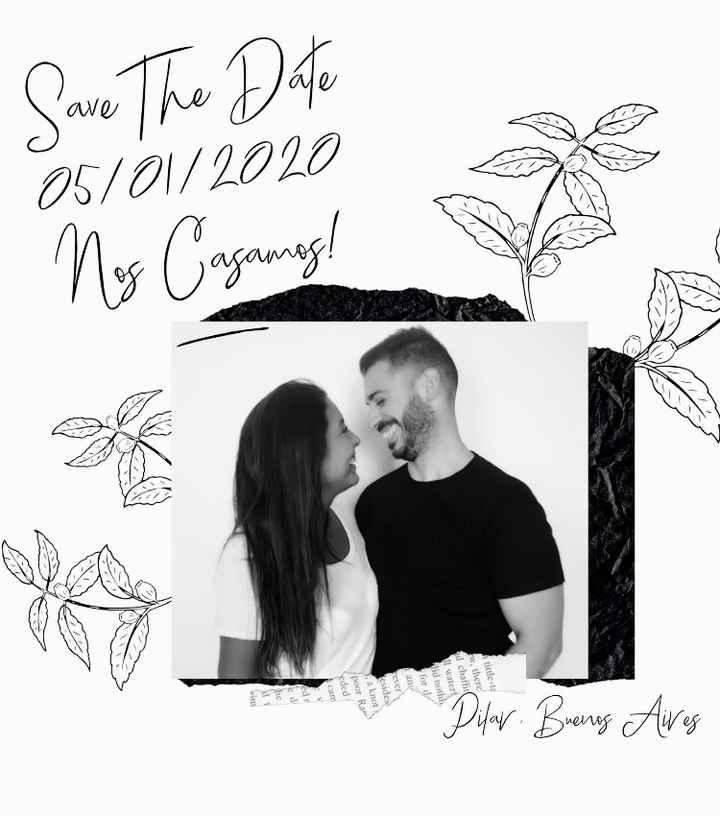 Enviamos el Save the Date - 2
