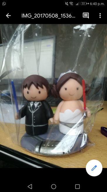 Adornos de boda para torta 1