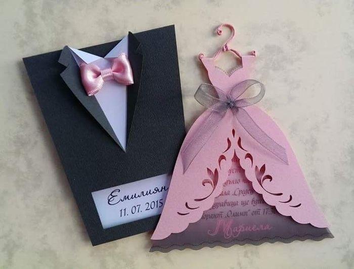 68bdddf43 Invitaciones de boda vestido traje