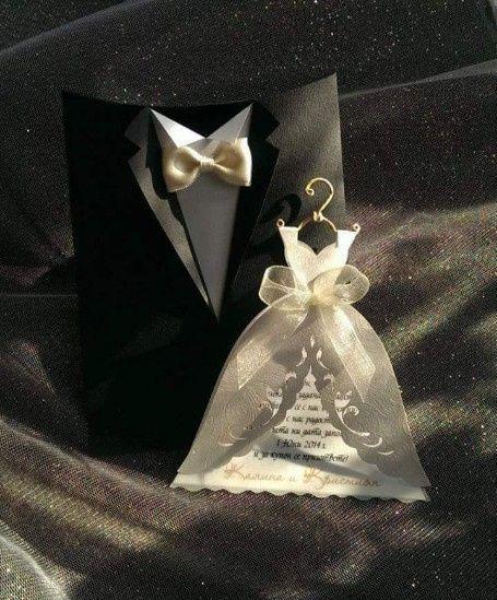 invitaciones de boda vestido  traje