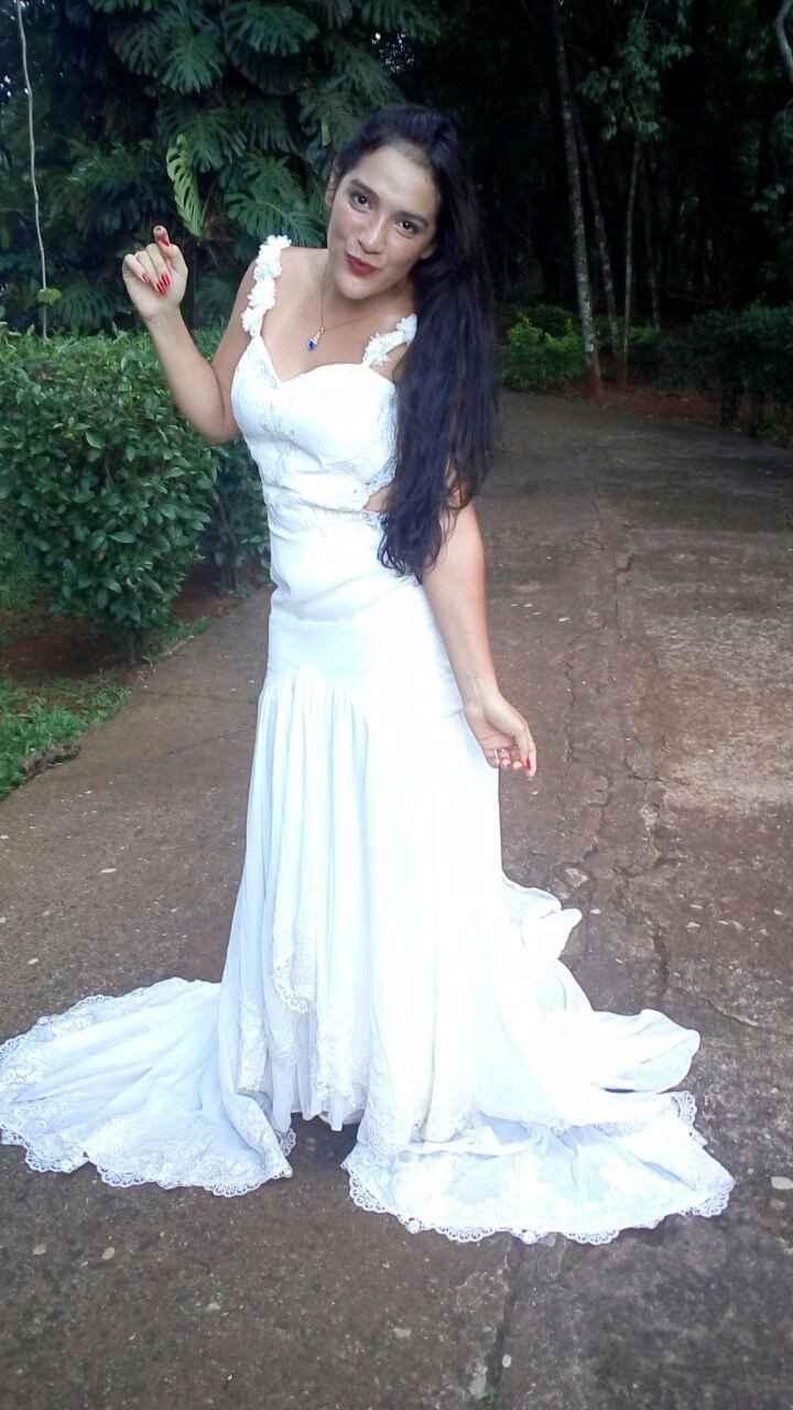 De nuevo vestida de novia