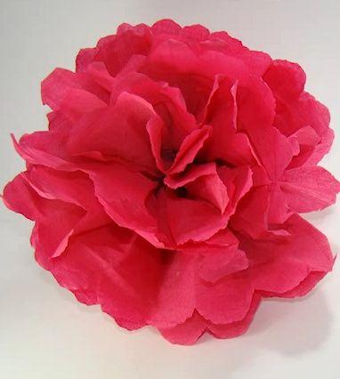 Centro De Mesa Con Flores En Papel Crepe - Flores-de-papel-crepe