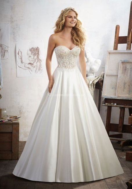 así será mi vestido de novia