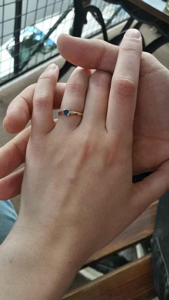¿Hubo anillo el día que se comprometieron? - 1