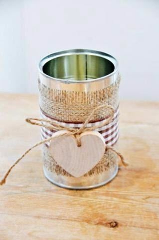 35 ideas de reciclado diy para el gd for Barattoli latta shabby