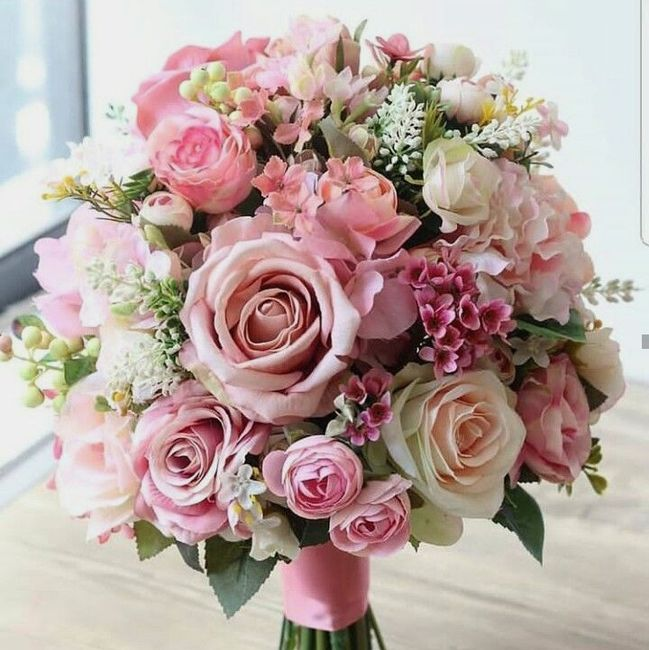 ramos de novia en color rosa ❤ 5