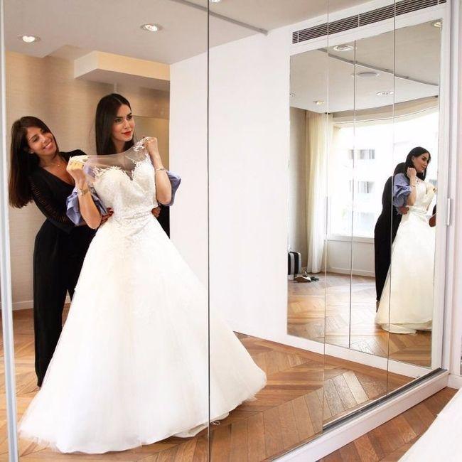 1e2898f4fa Su vestido de novia tardó un año en estar listo. ¡la espera valió la ...