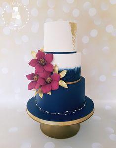 4 Tortas con Fondant para un casamiento elegante 8