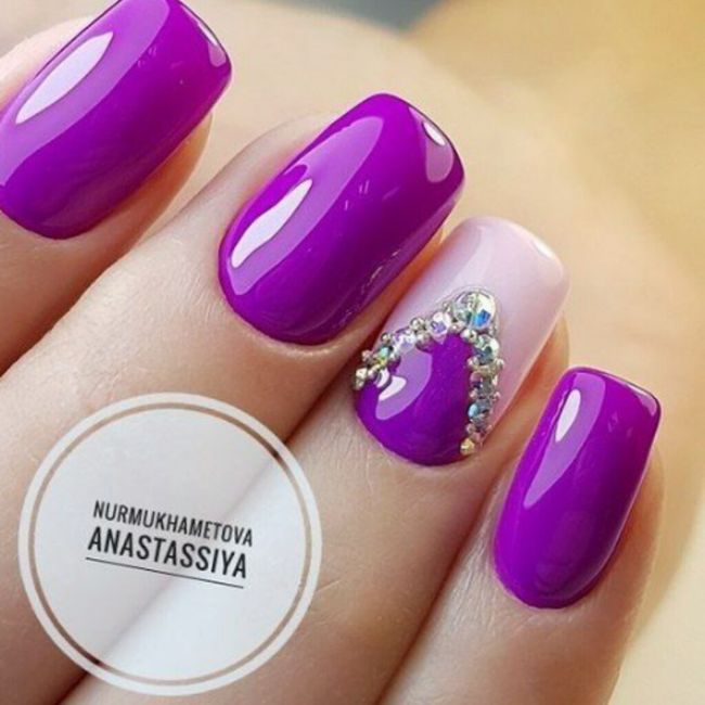 ¡Manicure violeta! 💜 2