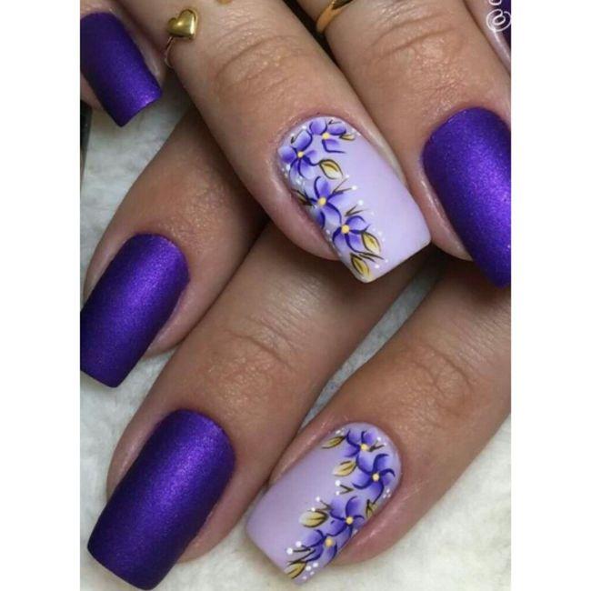 ¡Manicure violeta! 💜 4