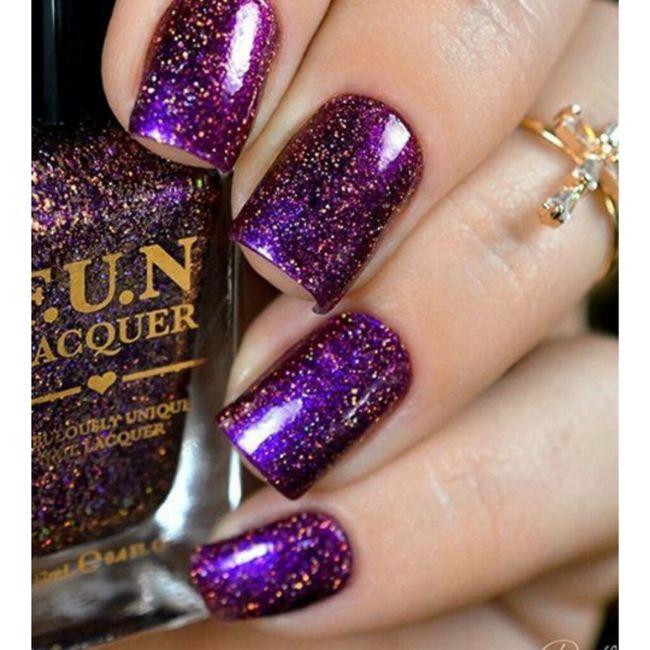 ¡Manicure violeta! 💜 5