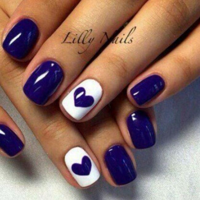 ¡Manicure violeta! 💜 6
