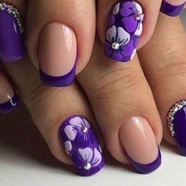¡Manicure violeta! 💜 7