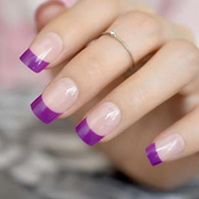 ¡Manicure violeta! 💜 14
