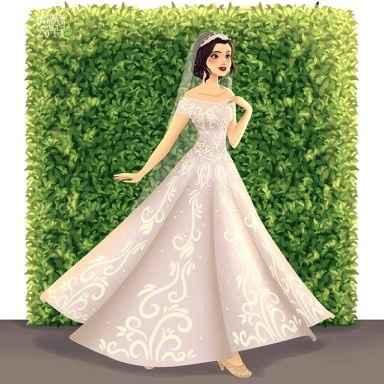 Princesas Disney de Novia - 8