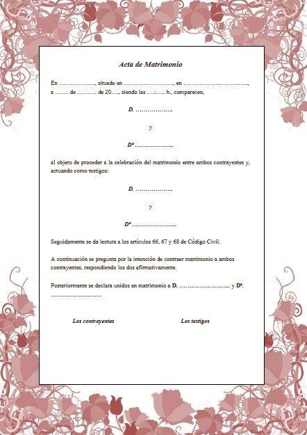 Certificado De Matrimonio Simbolico : Las quot actas en ceremonias simbólicas