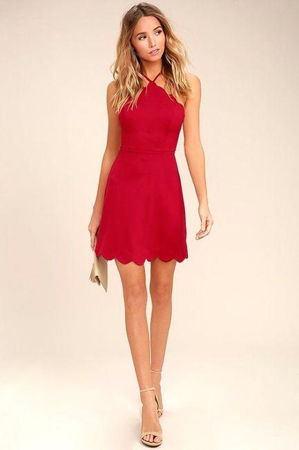 Vestidos de Civil - color rojo 6