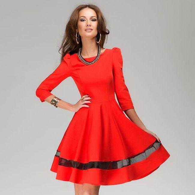 Vestidos de Civil - color rojo 7