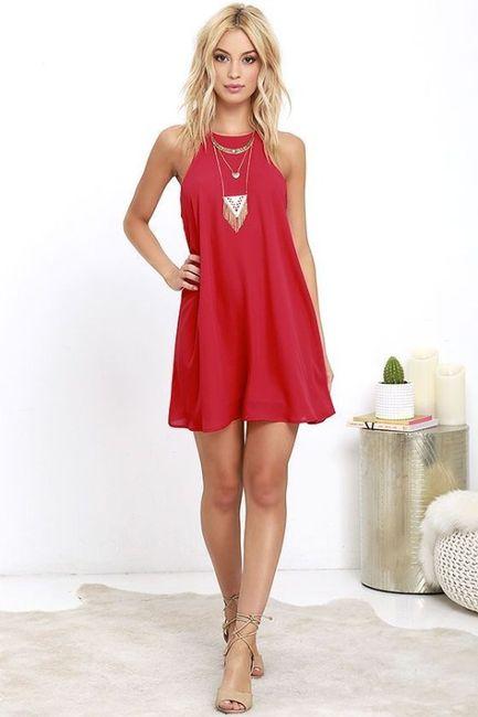 Vestidos de Civil - color rojo 9
