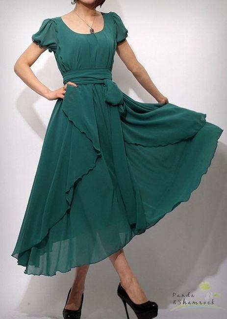 Vestidos de Civil - color verde 1