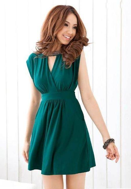 Vestidos de Civil - color verde 5