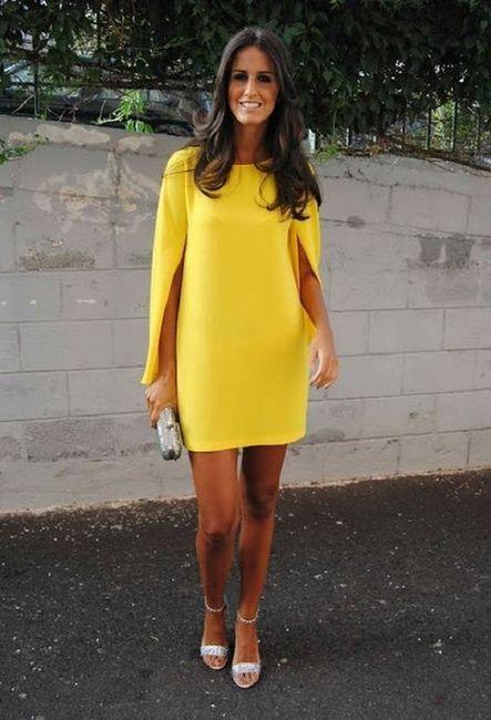 Vestidos de Civil - color amarillo 4