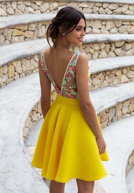 Vestidos de Civil - color amarillo 5