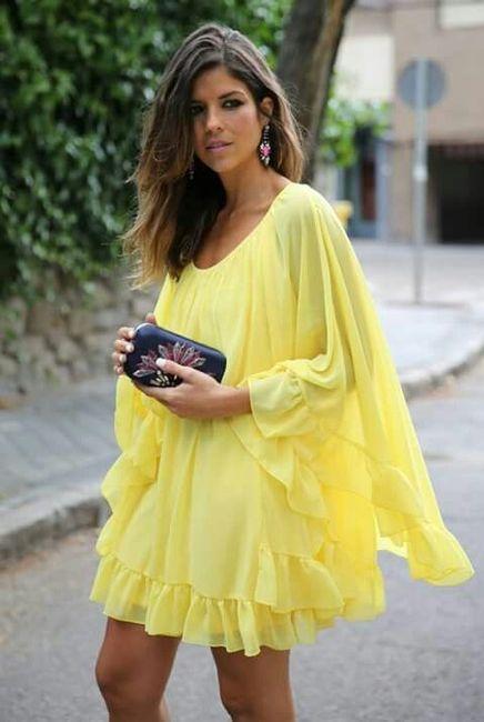 Vestidos de Civil - color amarillo 7