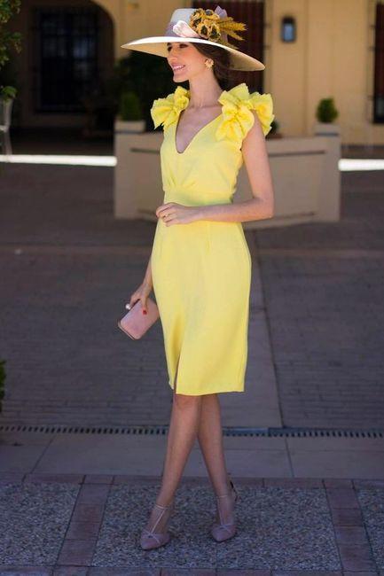 Vestidos de Civil - color amarillo 8