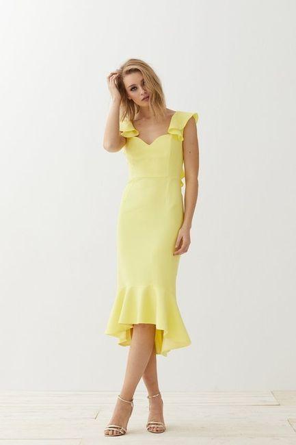 Vestidos de Civil - color amarillo 9