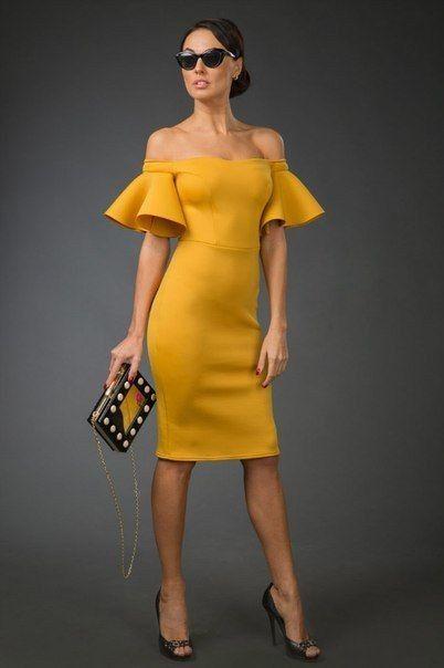 Vestidos de Civil - color amarillo 10