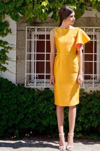 Vestidos de Civil - color amarillo 12