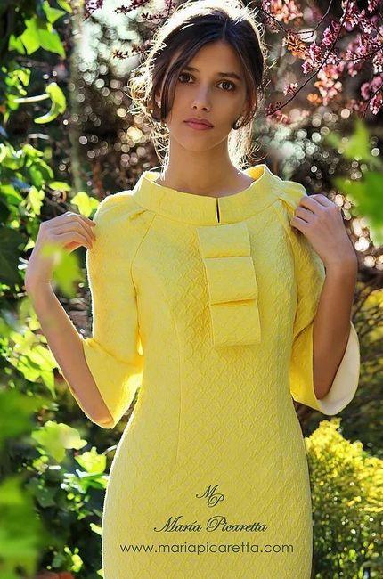 Vestidos de Civil - color amarillo 13