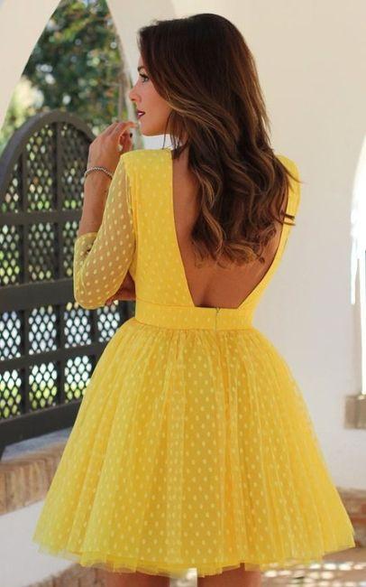 Vestidos de Civil - color amarillo 14