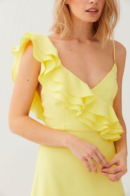 Vestidos de Civil - color amarillo 16