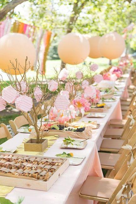 Reglas de la decoración de bodas modernas 7