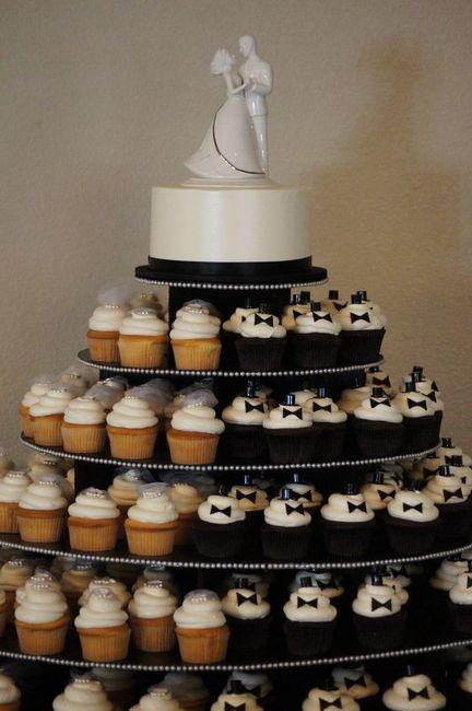 Tortas modernas: con cupcakes 1