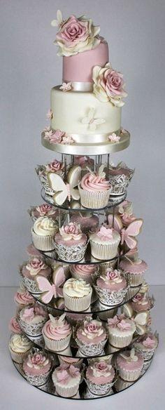 Tortas modernas: con cupcakes 3