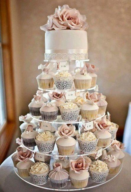 Tortas modernas: con cupcakes 4